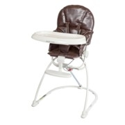 guzzie & guzz modern travel highchair with recline brown