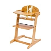 guzzie & guzz modern wooden adjustable highchair toffee thumbnail