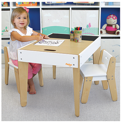 Little ones Modern Table & chairs white image