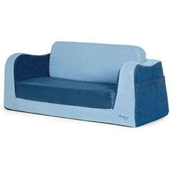 blue sofa sleeper