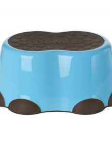 blue with chocolate bumbo step stool