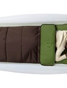shrunks outdoor twin green & brown sleeping bag & pump 6