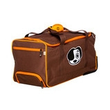 shrunks wheeled duffle bag brown & orange 2