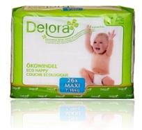 delora eco maxi diapers 4 bags of 26