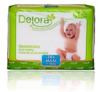 delora eco maxi diapers 4 bags of 26 image