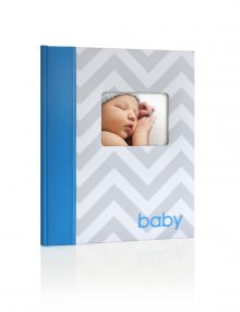 Chevron Baby Book Blue