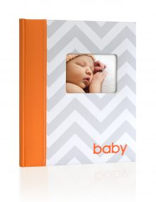 Chevron Baby Book Orange