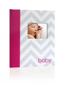 Chevron Baby Book Pink
