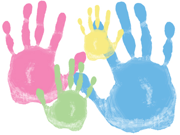 Family handprint frame 1