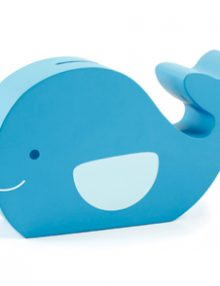 Wallie whale piggy bank