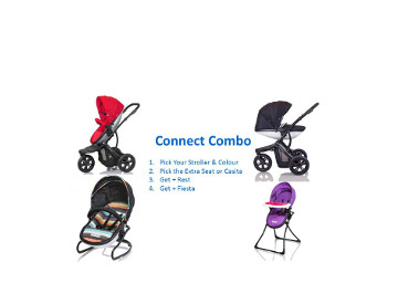 Stroller, Bouncer & Highchair Bundle