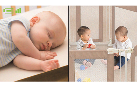 baby monitor side by side split screen video set. Black Bedroom Furniture Sets. Home Design Ideas