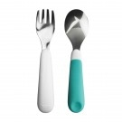 oxo fork & spoon set blue