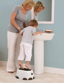 bumbo step stool white & black