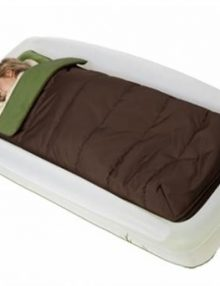 shrunks outdoor twin sleeping bag & pump green & brown