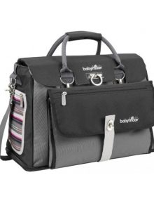 Freehand Nappy Bag Black-Grey-Fuschia