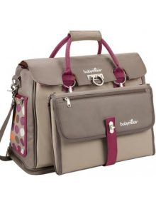 Freehand Nappy Bag Taupe-Hibiscus