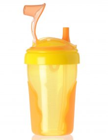 Vital Baby No Spill straw cup orange.yellow