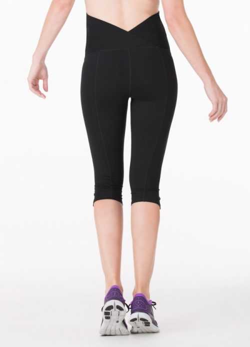 active pant crossover knee front
