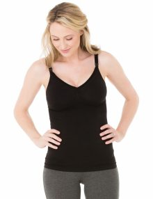 seamless nursing cami black front